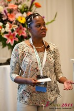 Robinne Burrell (Vice President at Match.com) at the 2011 L.A. Online Dating Summit and Convention