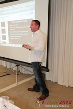 Ryan Gray (Co-Founder of IMGrind) at the Mobile Marketing Pre-Conference at the 2012 California Mobile Dating Summit and Convention