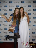 Svetlana Mucha and Elena Kolyasnikova at the 2015 iDate Awards