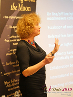 Mary Balfour CEO And Managing Director Of Drawing Down The Moon  at the October 14-16, 2015 event for global online dating and matchmaking professionals in London