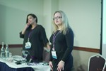 Genevieve Zawada and Arlene Vasquez reporting on the 2016 State of Matchmaking in Europe and the U.K.  at the 2016 Londres Euro e Reino Unido Mobile and Internet Dating Expo and Convention